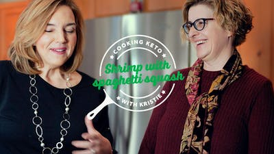 Kristie cooking keto with Dr. Georgia Ede
