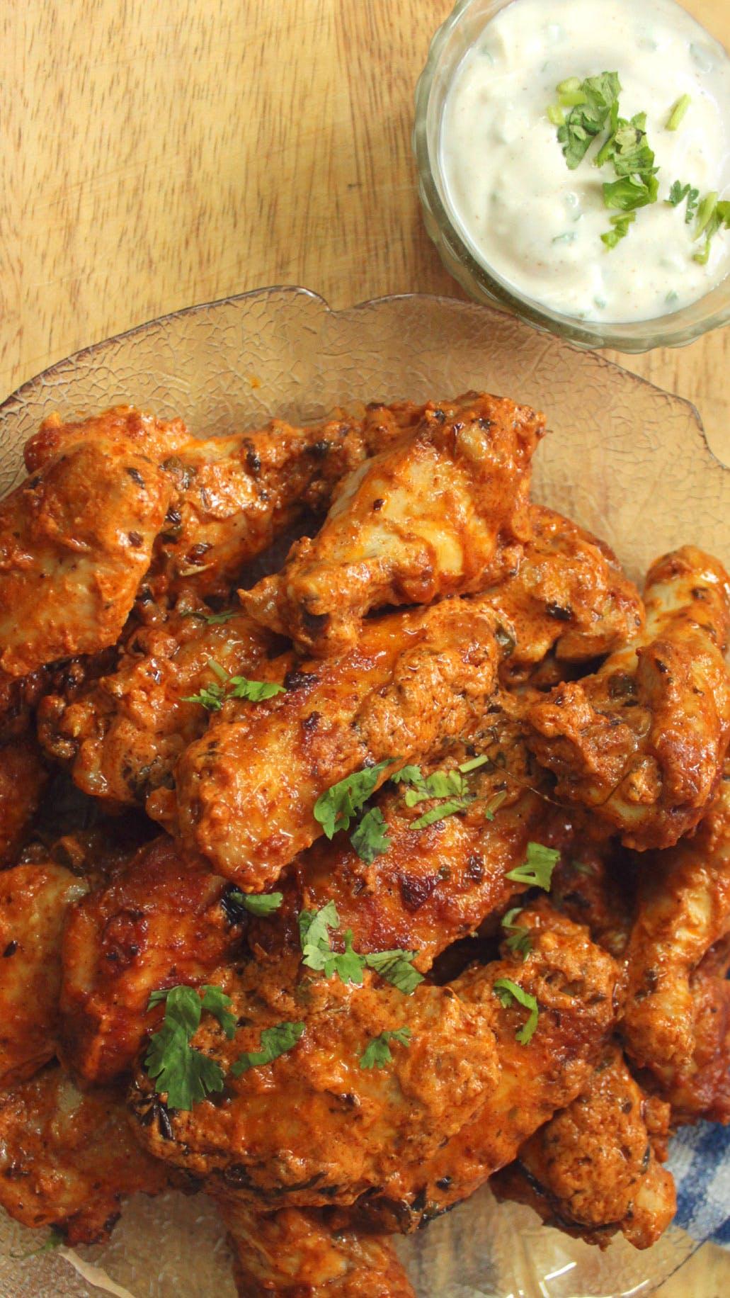 Keto butter chicken wings