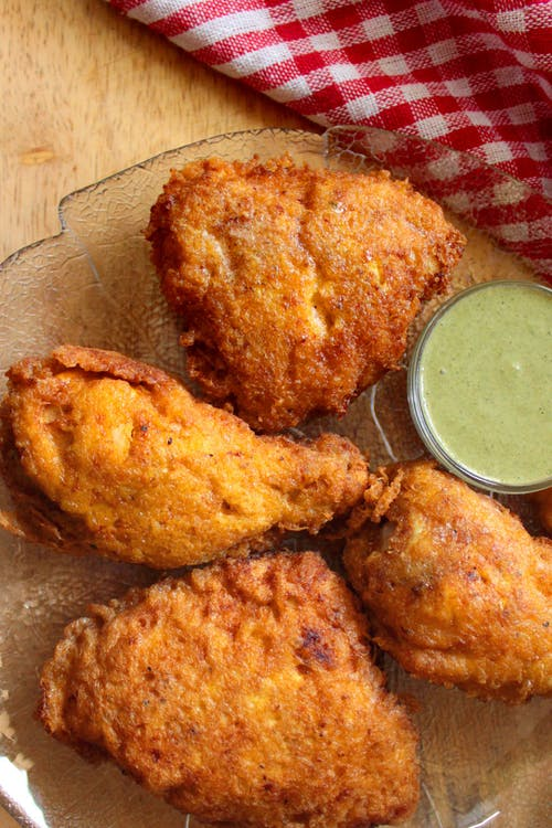 Keto Indian chicken farcha with green chutney dip