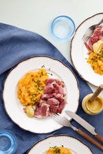 Ham hock with rutabaga-cauliflower mash