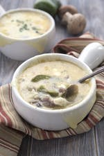 Low-carb Philly cheesesteak soup