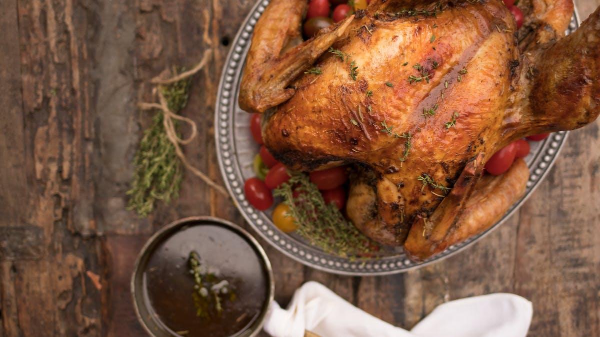 Turkey with bacon gravy