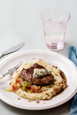 Keto beef with gravy and cabbage mash