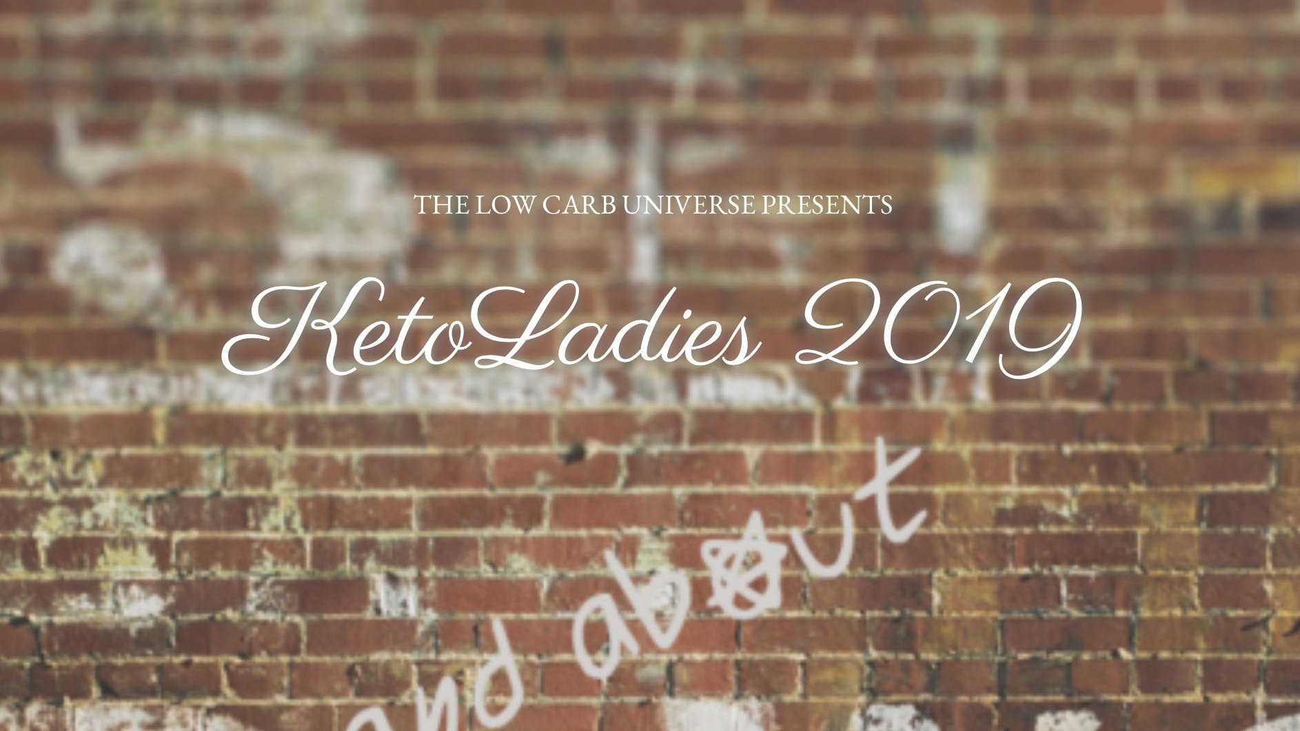 Don't miss booking your tickets to KetoLadies 2019!