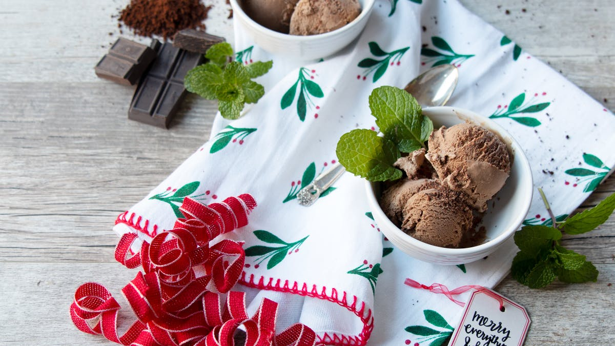 Low-carb peppermint mocha ice cream