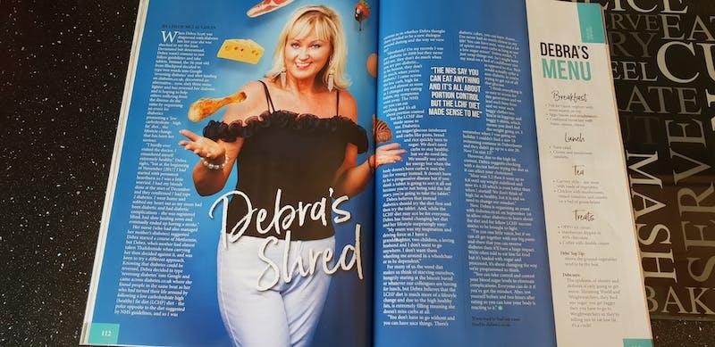 Debra juggling low carb food