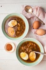 Ethiopian spicy doro wat soup