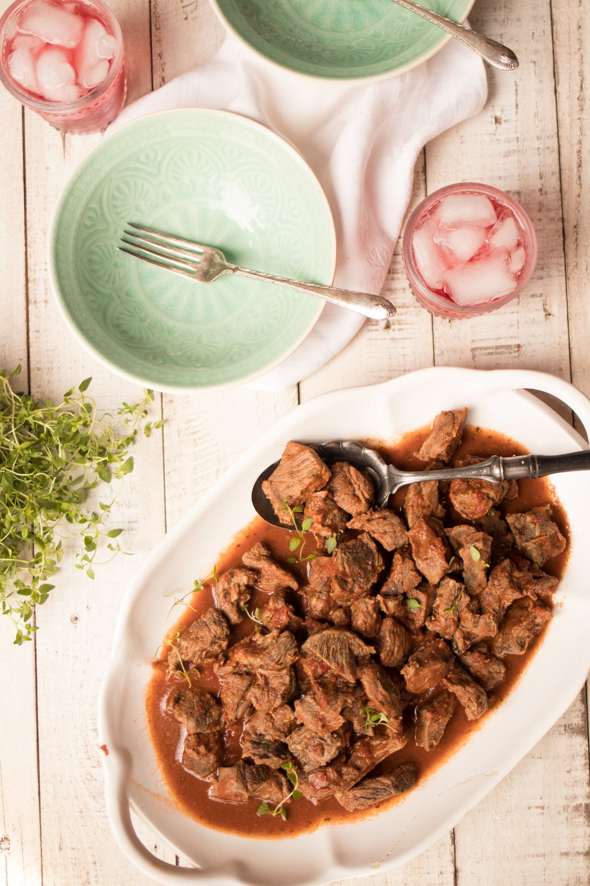Italian beef tips