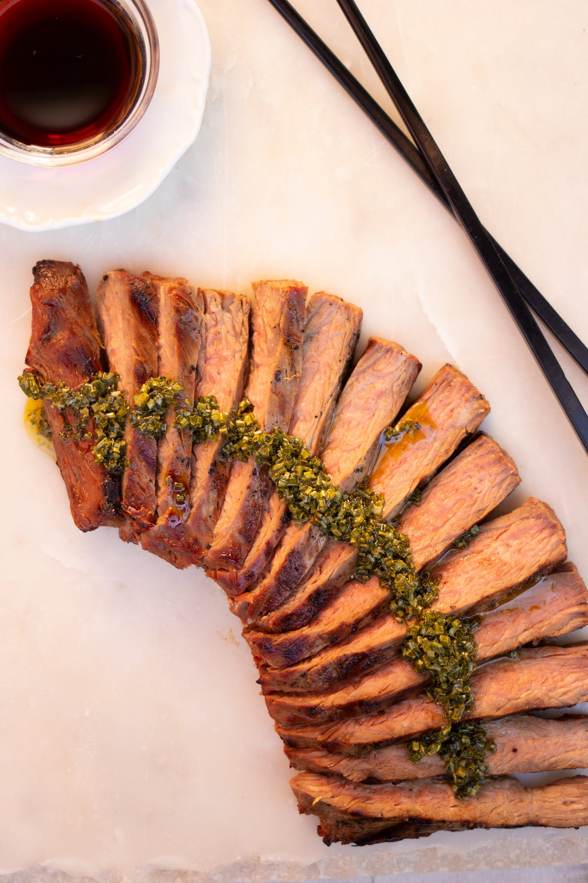 Teriyaki grilled steak