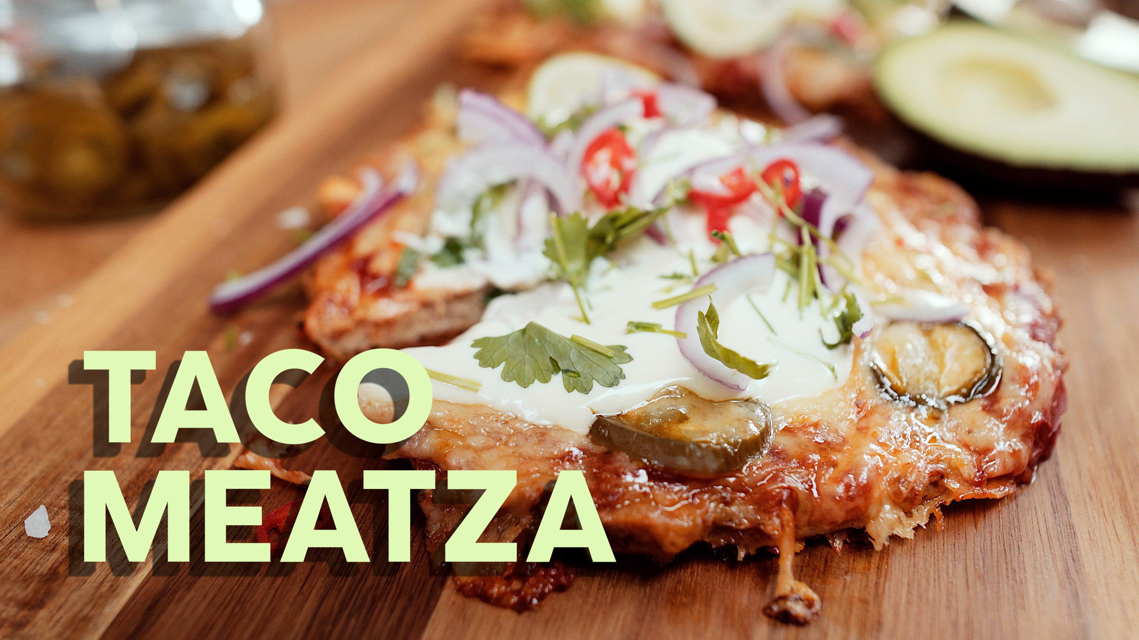 Keto taco meatza cooking video