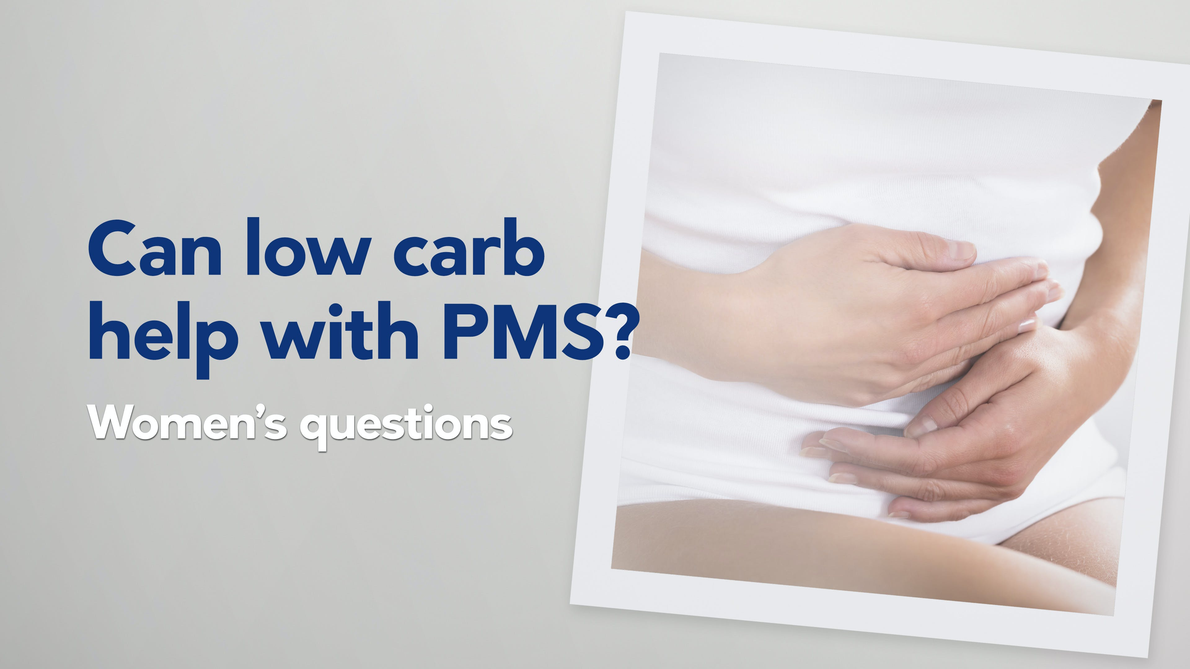 Can low carb and keto help with PMS?