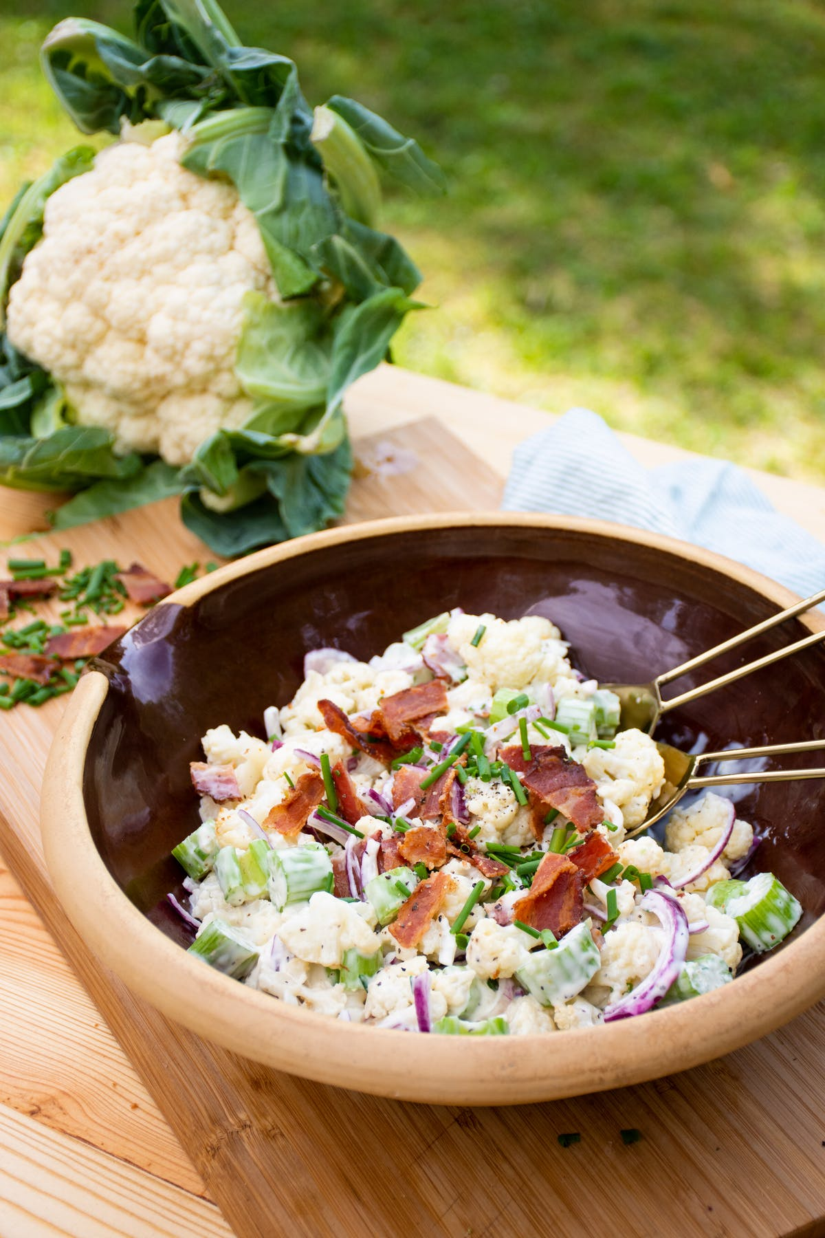 Keto cauliflower 'potato' salad