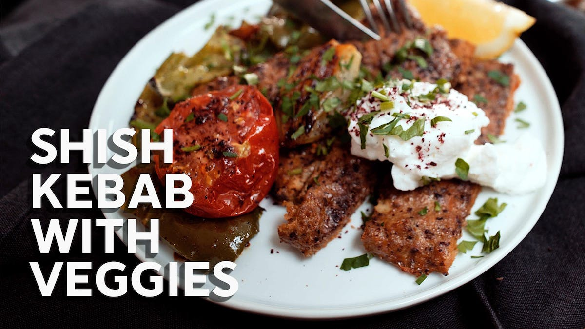 How to make Shish kebab with veggies