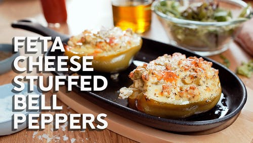 How to make feta cheese stuffed bell peppers