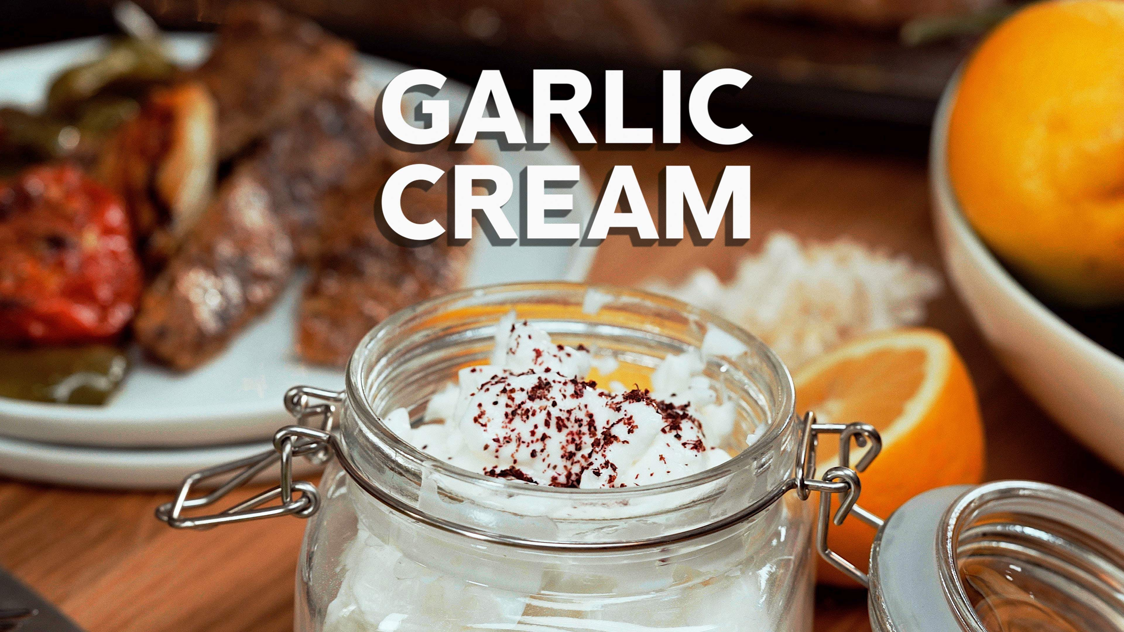 Garlic cream -  cooking with Jill