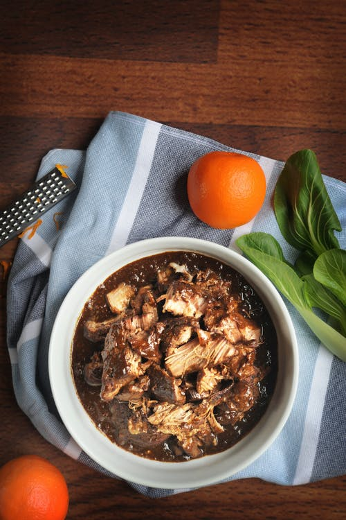 Orange-braised pork
