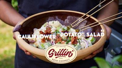 Keto cauliflower 'potato' salad