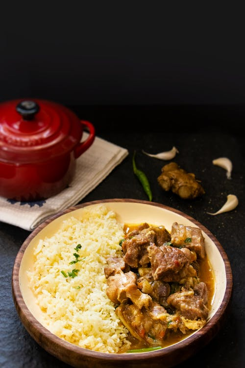 Sindhi style lamb curry with cauliflower rice