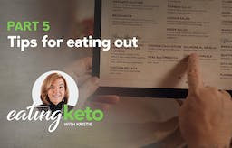 How do you stay keto when eating out?