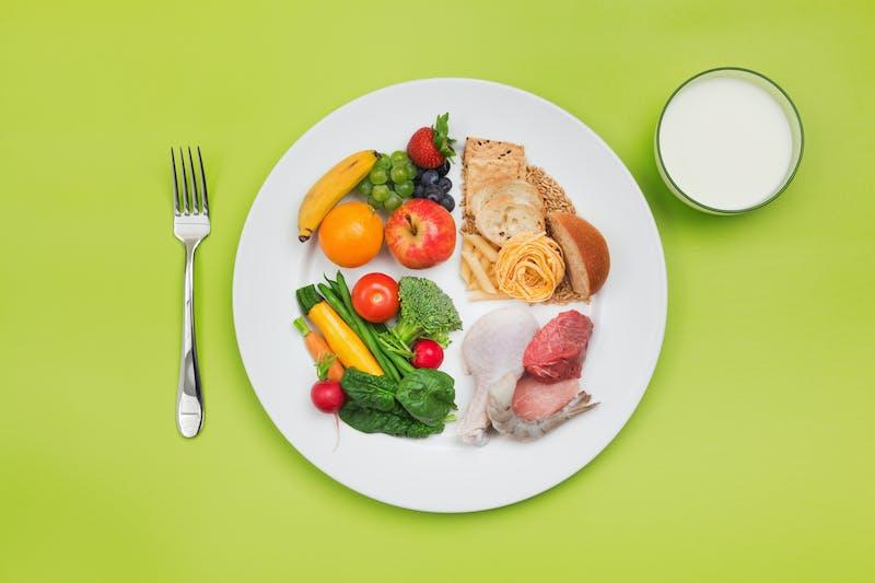 ChooseMyPlate Healthy Food et assiette de recommandation du régime équilibré de l'USDA