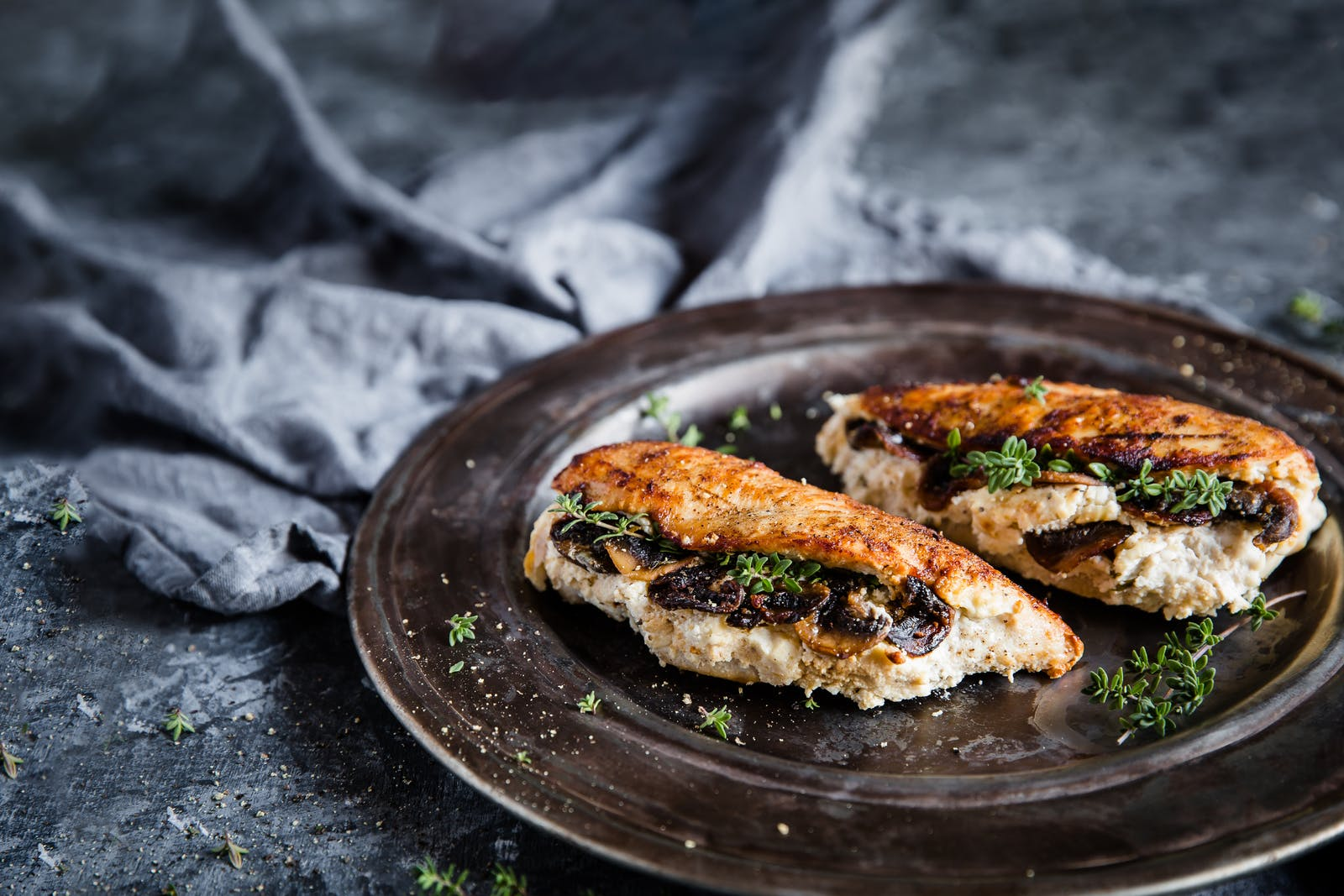 Low Carb Mushroom And Ricotta Chicken Recipe Diet Doctor