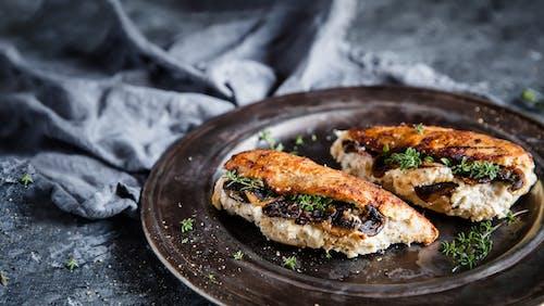 Mushroom and ricotta stuffed chicken breasts
