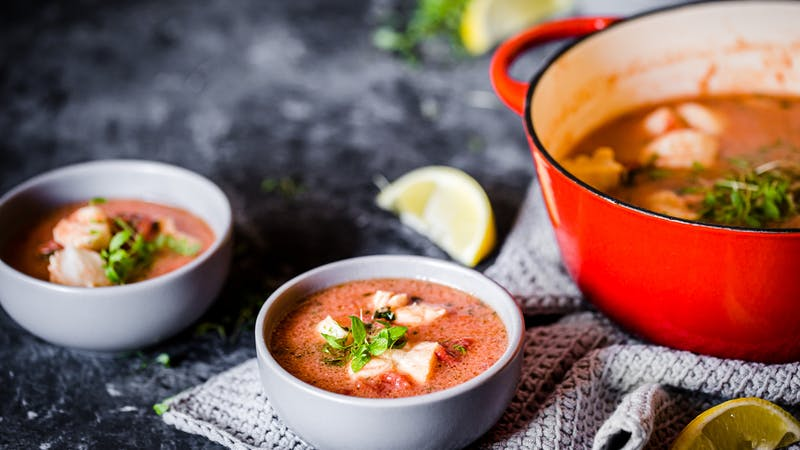 Low-carb fish stew