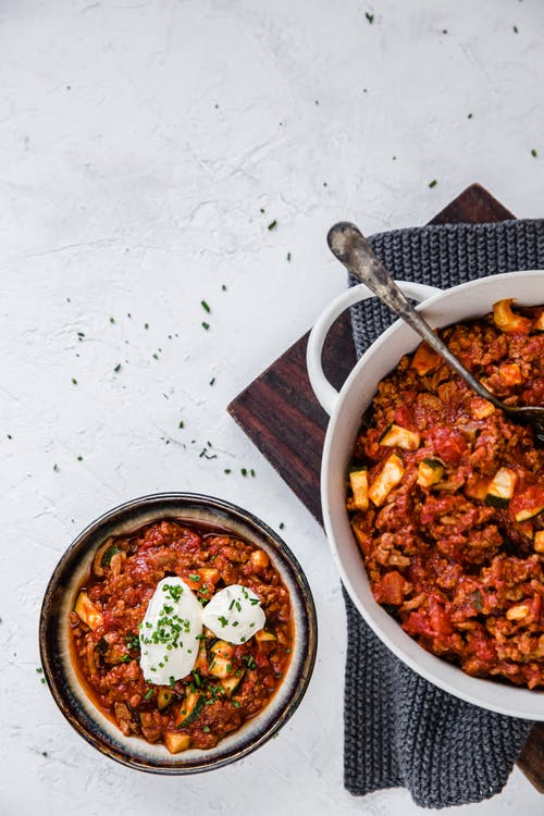 Low-carb ground turkey chili