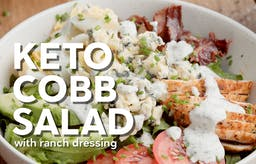 How to make keto Cobb salad