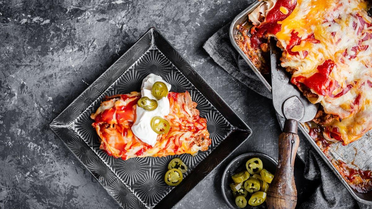 Low-carb beef enchiladas