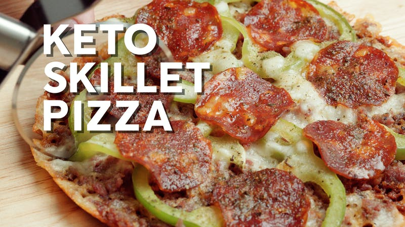 How to make keto skillet pizza