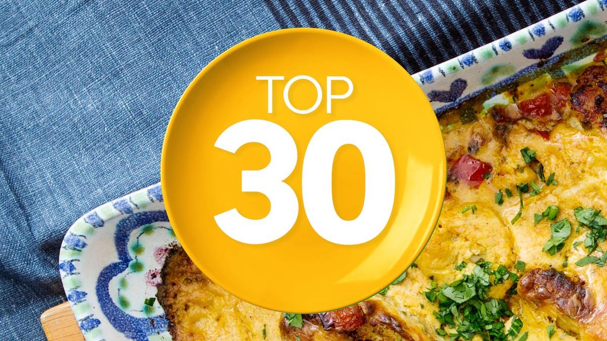 Top 30 low-carb recipes