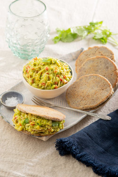 Keto arepas with chicken and avocado