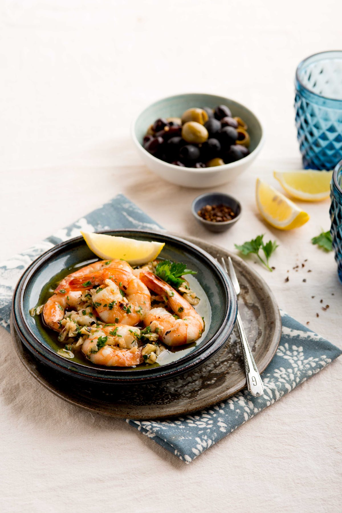 Keto Spanish garlic shrimp