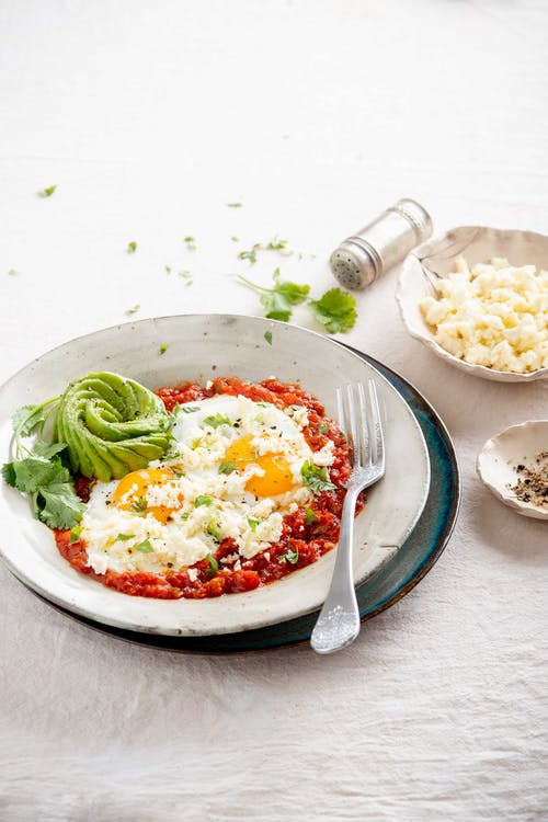 Clara's delicious low carb huevos rancheros