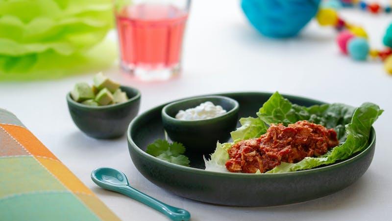 Low-carb lettuce enchiladas