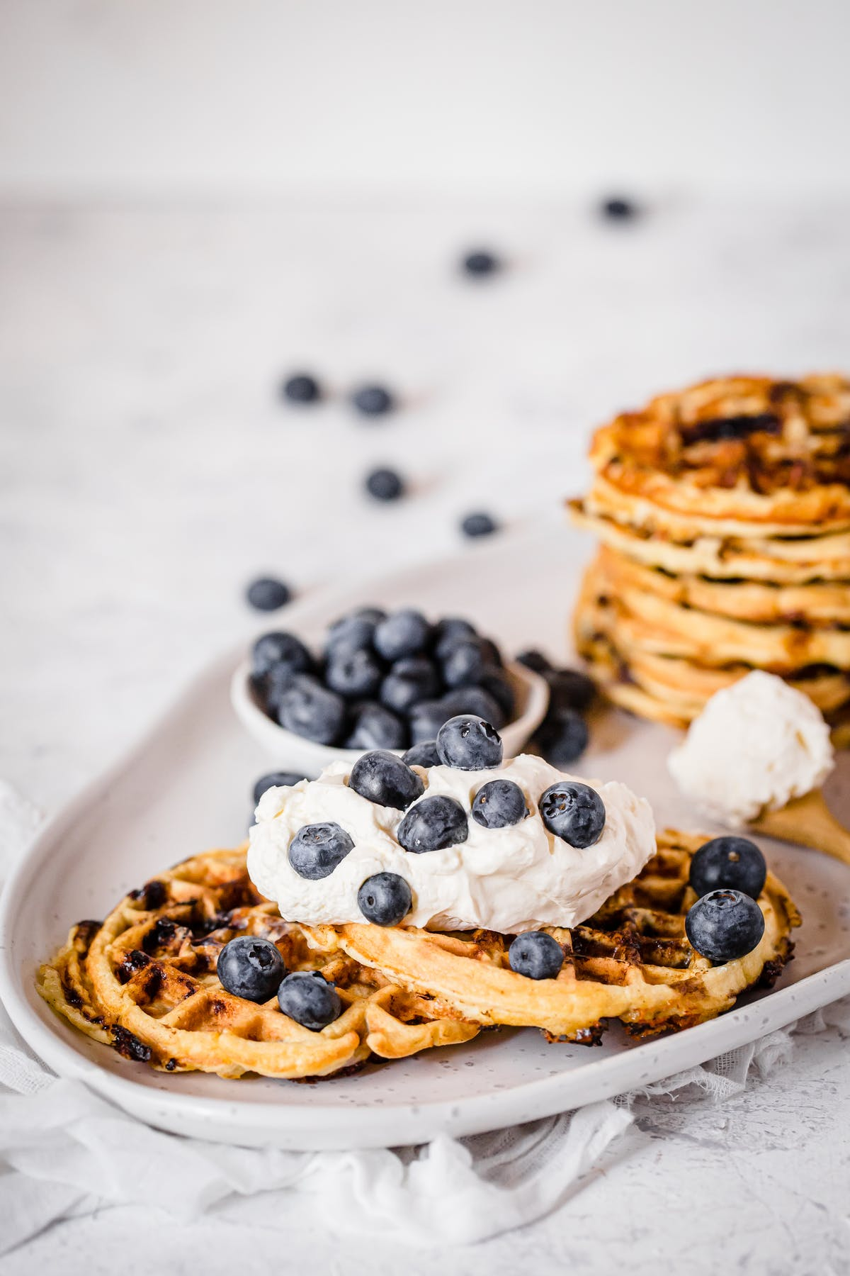 Blueberry chaffles