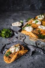 Keto taco chaffles