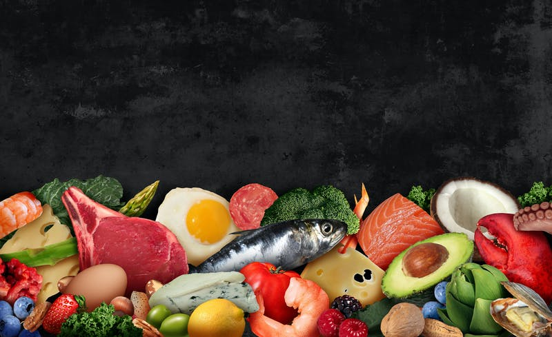 Keto Food Background
