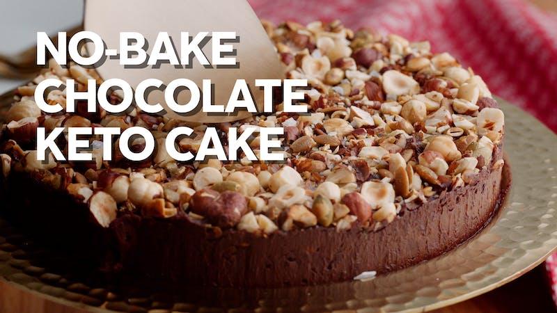 No-bake chocolate keto cake