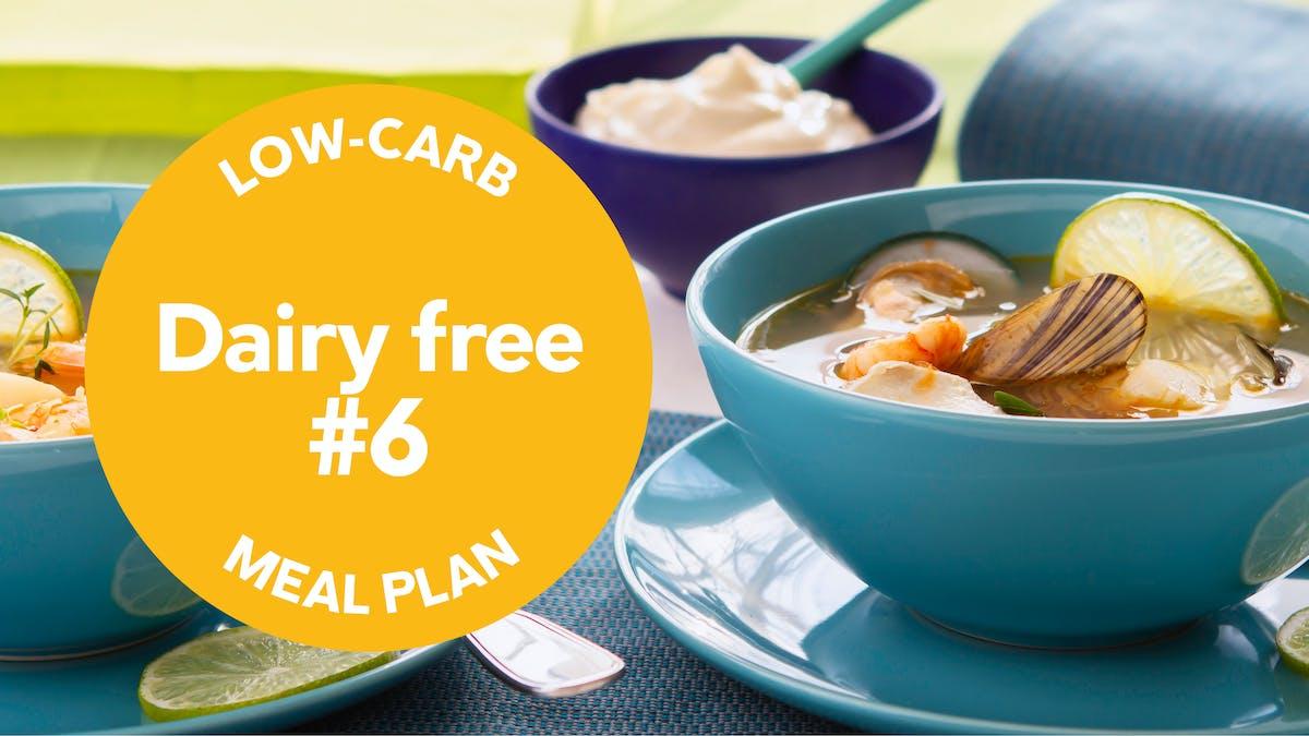 Low-carb meal-plan dairy-free