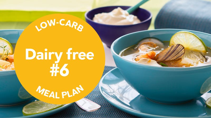 Low-carb meal-plan dairy-free
