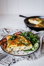Three cheese keto frittata