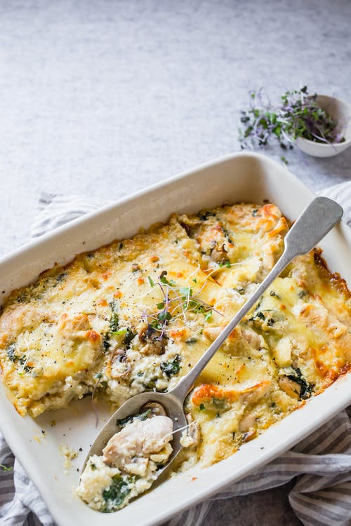 Keto chicken and mushroom casserole