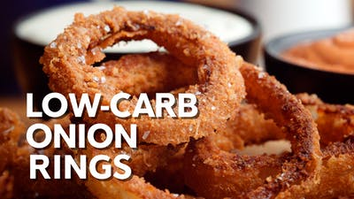 Low-carb onion rings