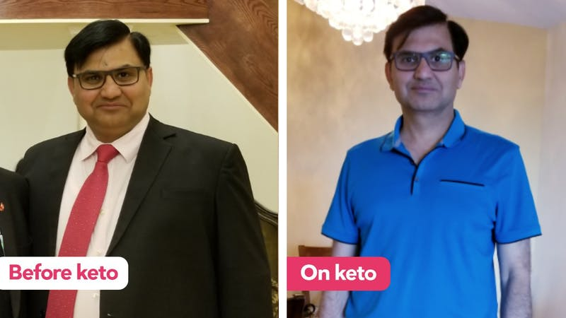 Udai lost 70 pounds (32 kilos) in three months on a vegetarian keto diet