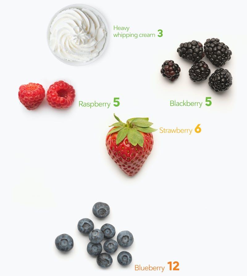 Keto snacks berries and cream
