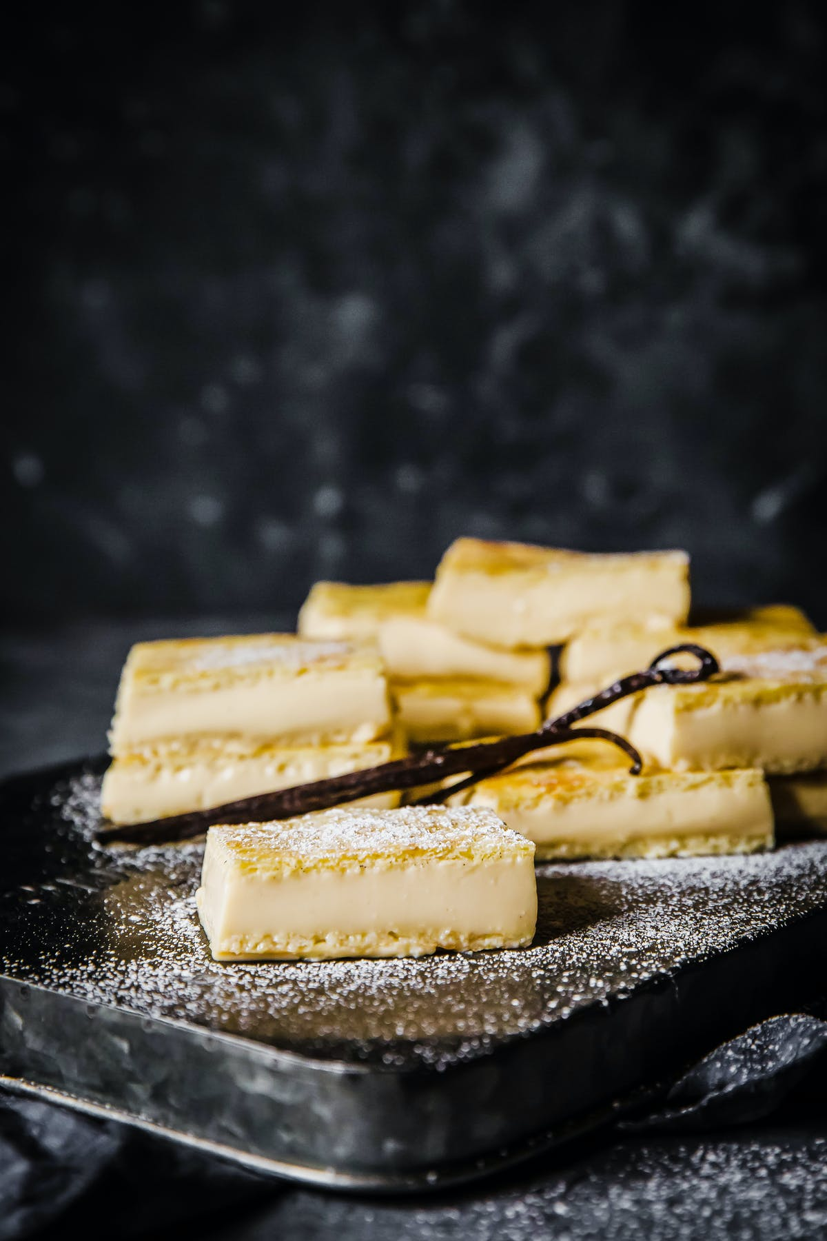 Low-carb vanilla slice