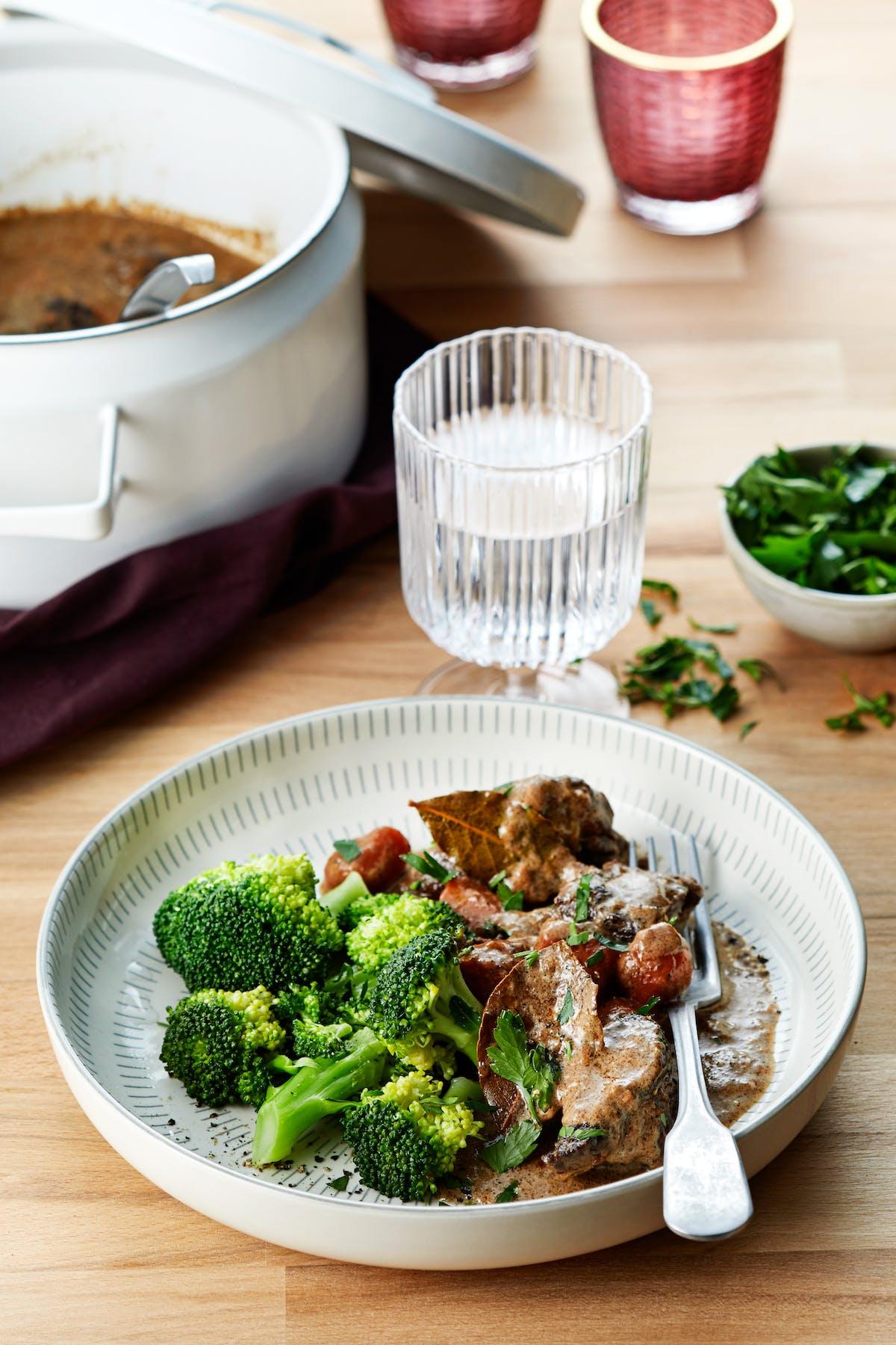 Classic Swedish beef stew (kalops)