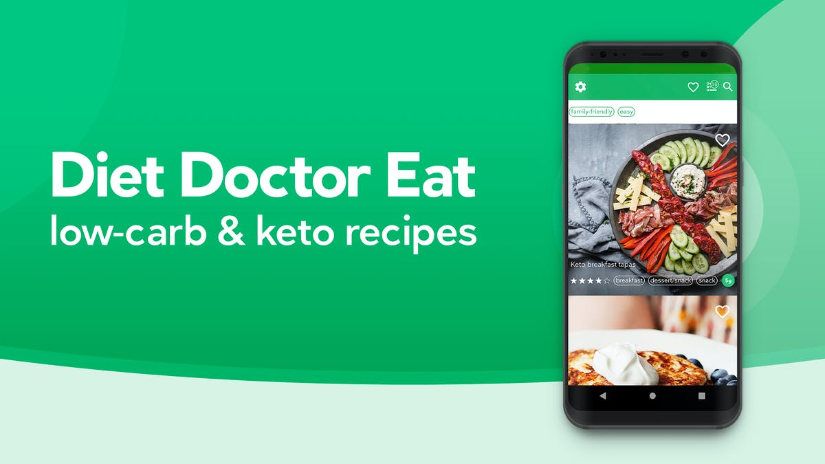 Diet Doctor EAT Android App is finally here. Check it out.